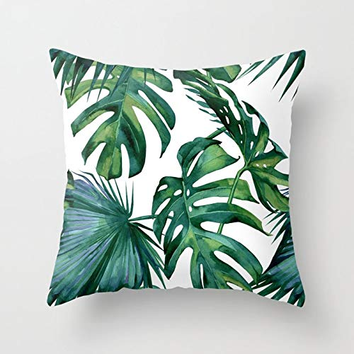 - Zippered Pillow Covers Pillowcases 18X18 Inch Classic Palm Leaves Tropical Jungle Green Decorative Throw Pillow Cover,Pillow Cases Cushion Cover for Home Sofa Bedding