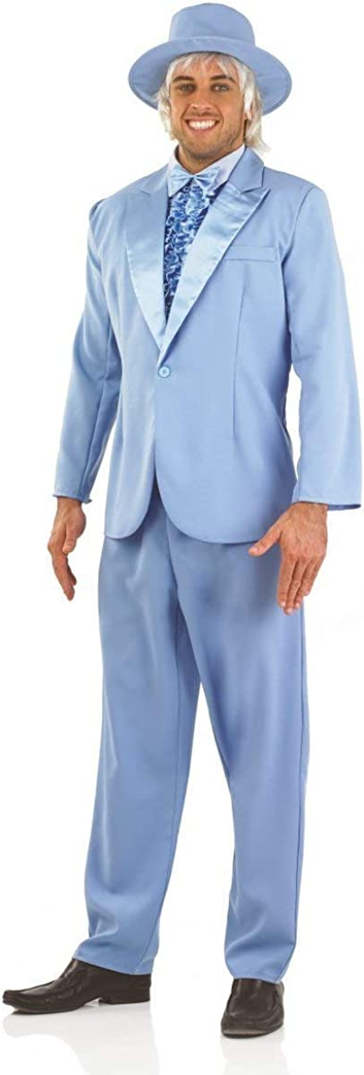 fun shack Mens 90s Comedy Movie Costumes Blue /& Orange Suits