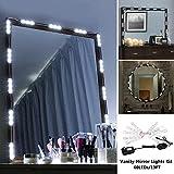 Vanity Mirror Lights, Dsben 13 FT/60 LEDs DIY Hollywood LED Makeup Mirror Light Kit with Dimmer, Natural White