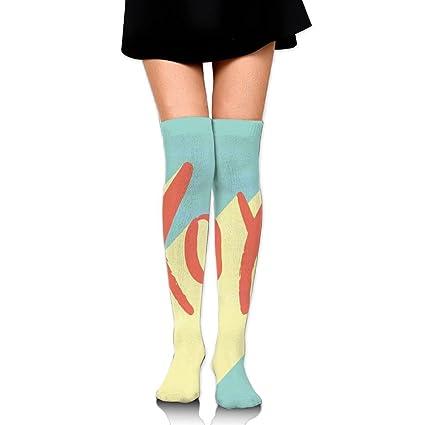 TRUSTINEEgyl Woman Pop Art - Calcetines para Botas de Fútbol con Diseño de Tacos y Besos