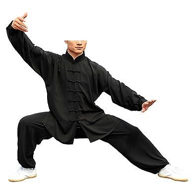 KIKIGOAL Unisex Tai Chi Anzug Damen und Herren Kung Fu Uniformen Kampfsport  Flachs und Seide Chinoiserie d05cfde0af