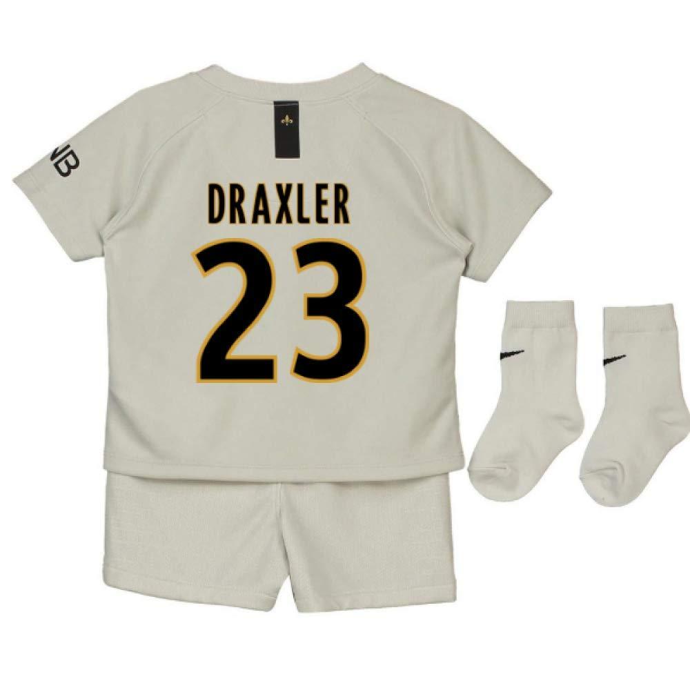 UKSoccershop 2018-19 PSG Away Baby Kit (Julian Draxler 23)