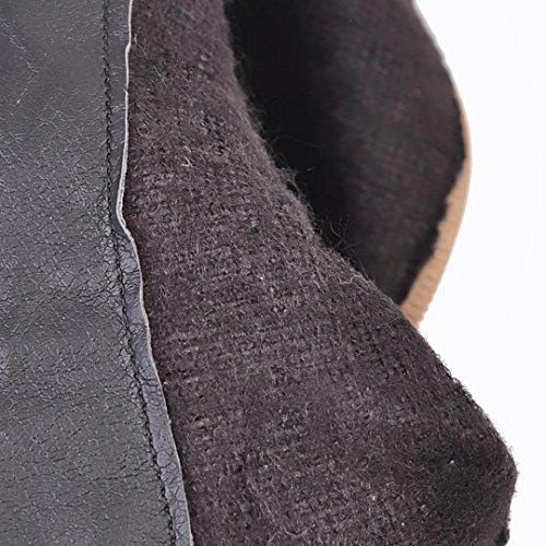 AIYOUMEI Womens Side Zipper Block Heel Bootie Autumn Winter Tassel Ankle Boots Yellow RKSA2G