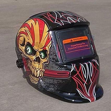 Tiptiper Casco de soldadura, oscurecimiento automático solar MIG MMA Máscara de soldadura eléctrica / casco