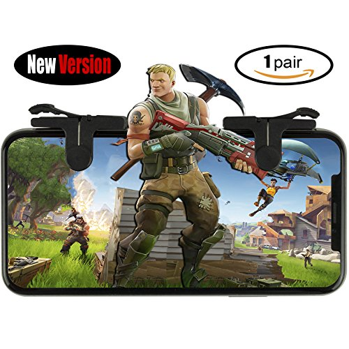 Price comparison product image PUBG Fortnite Mobile Controller, L1R1 Sharpshooter Trigger, Mobile Game Controller, Sensitive Shoot and Aim for PUBG / Fortnite / Battle Royale; [New Version - 1 Pair]
