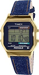 Timex Unisex TW2P77000AB Heritage Collection Digital Display Quartz Blue Watch
