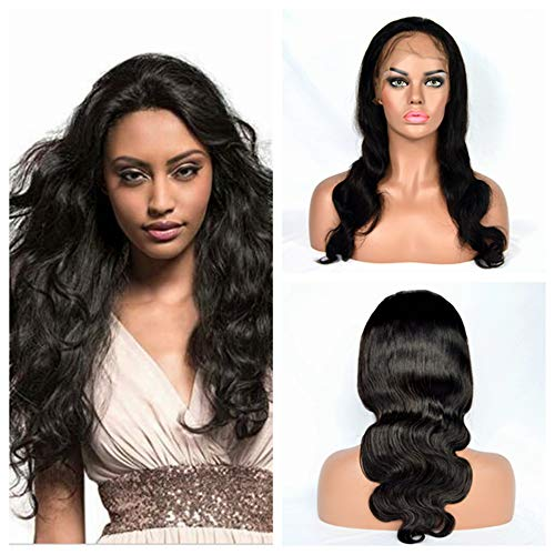 Poliga Hair 360 Silk Top lace frontal Wig Pre Plucked with Baby Hair Glueless Body Wave for Black Women 180% Density Natural Color (12