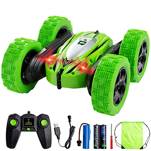 RC Cars Remote Control Car, Minsk 4WD Double Sided Rotating Vehicles 360°Flips Toy Cars -2.4GHz High Speed Off Road Truck -Toy Gifts for 3, 4, 5, 6, 7, 8 Year Old Boy Christmas Birthday
