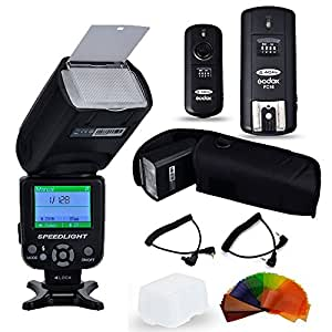 Floveme Professionel Flash Speedlite TR-988para Canon Nikon cámara negro