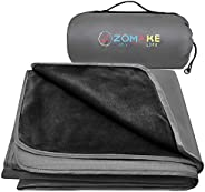 ZOMAKE Outdoor Blanket, Waterproof Camping Blanket for Cold Weather Warm Throw Blanket for Picnic, Stadium, Fe