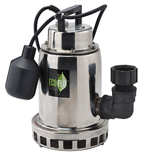 ECO-FLO Products SEP50W Stainless Steel Waterfall Fountain Pump, 1/2 HP, 2,400 GPH ()
