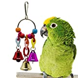 Bird Parrot Toys | Hanging Bell | Pet Bird Chew toys cage | Colorful Beads hammock Swing Toy |Toy for Small Parakeets | Cockatiels, Conures, Macaws, Parrots, Love Birds, Finches for small pets toy (B)