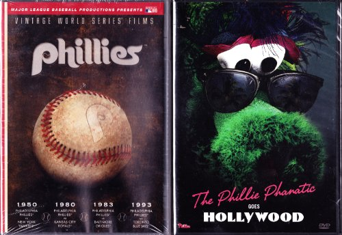 The Phillie Phanatic Goes Hollywood , MLB Vintage World Series Films Philadelphia Phillies 1950, 1980, 1983 & 1993 = Collector's Set of (Philly Phanatic World Series)
