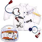 Doctor Costume for Kids - Dress Up - Kids Doctor Play Set - Doctor Kit - Doctor Accessories W/ Case by Tigerdoe