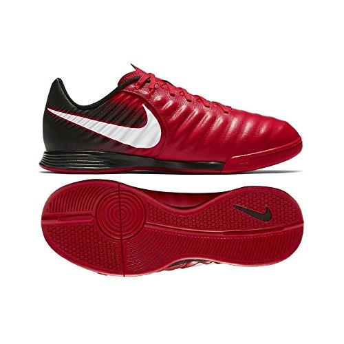 Nike Unisex-Kinder Jr Tiempox Ligera IV IC Fußballschuhe rot - weiß - schwarz