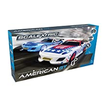 Scalextric C1361T America GT 1:32 Slot Car Race Track Playset