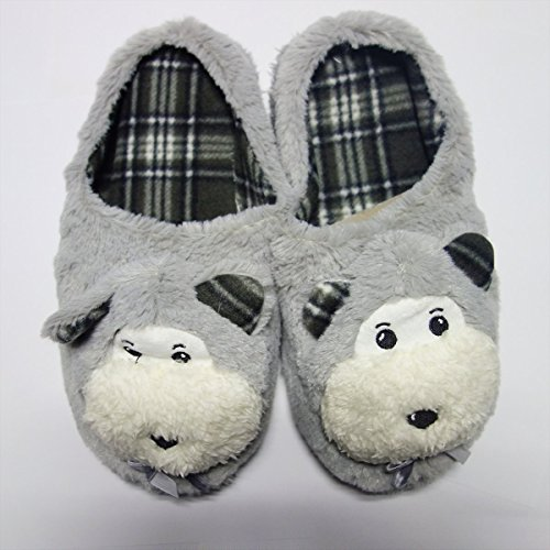 Non Girl Grey Plush Soft Women Cute Bedroom Shoe Cartoon Dark Slipper FullGold slip Yf5AnwU