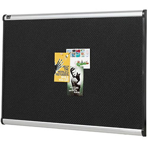 Wholesale CASE of 2 - Quartet Prestige Black Embossed Foam Board-Bulletin Board, Foam, 4'x3', Aluminum Frame