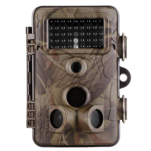 [2017 New] Trail Camera Ancheer Game Camera 2.4 LCD 42pcs No Glow IR LEDs and 12MP 1080P HD Infrared Night Vision IP66 Waterproof120Angle0.2s Trigger with Time Lapse