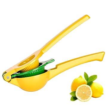 Exprimidores Manuales, 2 en 1 Exprimidor Manual de Limón para hacer Zumo/Ensalada /