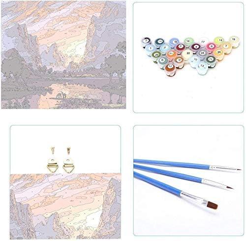 OAOBIU 数字によるDiy絵画キット海白帆船油絵キャンバス家の装飾アート-40x50cm Frameless