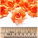 100-Silk-Two-Tone-Orange-Roses-Flower-Head-175-Artificial-Flowers-Heads-Fabric-Floral-Supplies-Wholesale-Lot-for-Wedding-Flowers-Accessories-Make-Bridal-Hair-Clips-Headbands-Dress