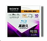 Sony Blu-ray Rewritable Disc for PC Data   BD-RE 25GB 2x Ink-jet Printable 10 Pack Cradle Case   10BNE1DCPC2 (Japanese Import)