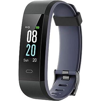 Montre Connectée Cardiofréquencemètre,Bracelet Connecté Podomètre Calories Sommeil Notification de Message Alarme Smart Watch Cardio pour iPhone Samsung ...