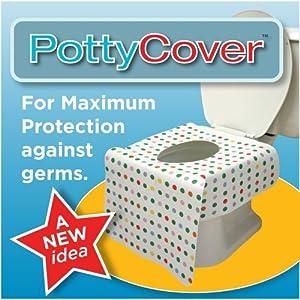 Potty Cover Lot de 6 housses de siège de WC pour enfant