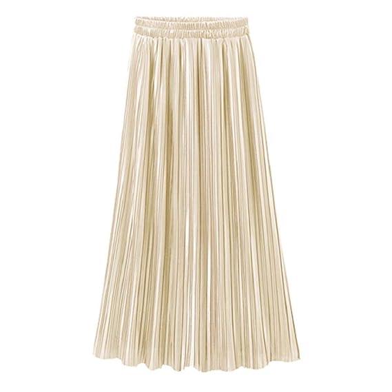 CANDLLY Faldas de Fiesta Mujeres Elegante Faldas Lisas Faldas ...