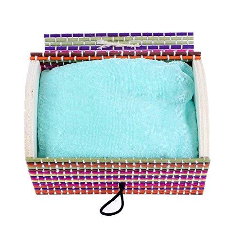 Ideal para Regalos de Bodas Baratos Lote de 20 Pa/ñuelos Colorful presentado en BA/ÚL Bamb/ú de Regalo