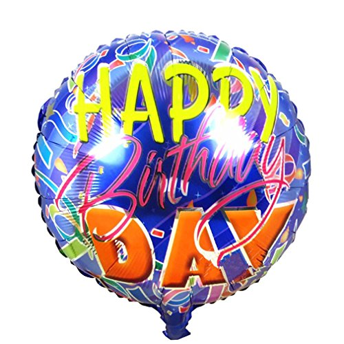 [Happy Birthday Foil Balloons Children Inflatable Toys Helium Balloon Party Decoration (Navy)] (Hot Dog On A Stick Costumes)