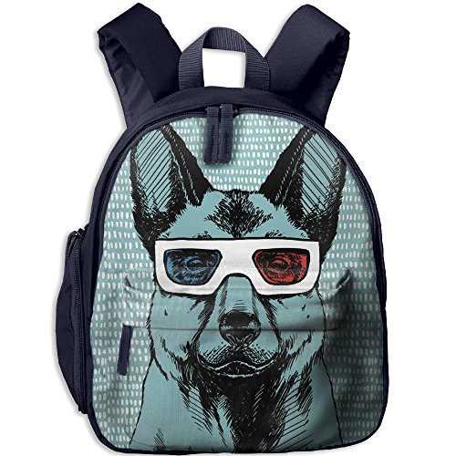 Dog Sunglasses Boys & Girls Backpack For School Have Double Zipper - Sunglasses Miley Cyrus
