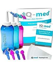 IQ Nasal tvättkanna Med + avtagbar insats | Naturligt hjälpmedel för kyla och allergi, även för barn | Näsdusch, näsa, nässtvätt set näsa, Nethi balsam Neti nästvätt