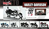 [Series 27] Harley-Davidson collection plating specification dedicated pedestal with Harley-Davidson to six set series 27 die-cast miniature bike Maisuto / maisto [Military Keychain one gift] of