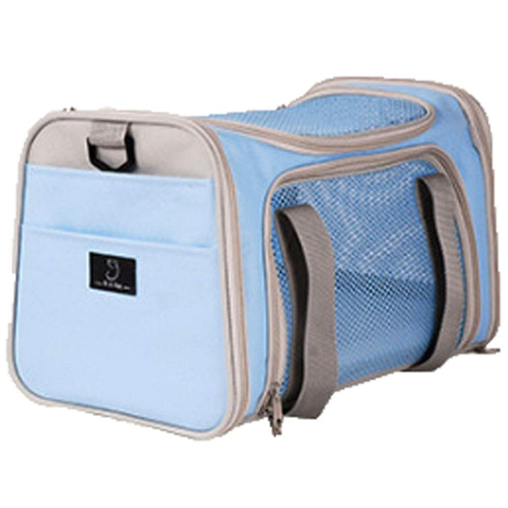 M HAOJINFENG Dog Backpack Breathable Folding Oxford Cloth Portable Backpack with Fixed Dog Hook Backpack bluee