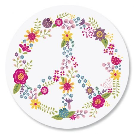 Peace Flower Every Day Envelope Seals - Set of 144 1-1/2 diameter Self-Adhesive, Flat-Sheet Every Day sticker Seals