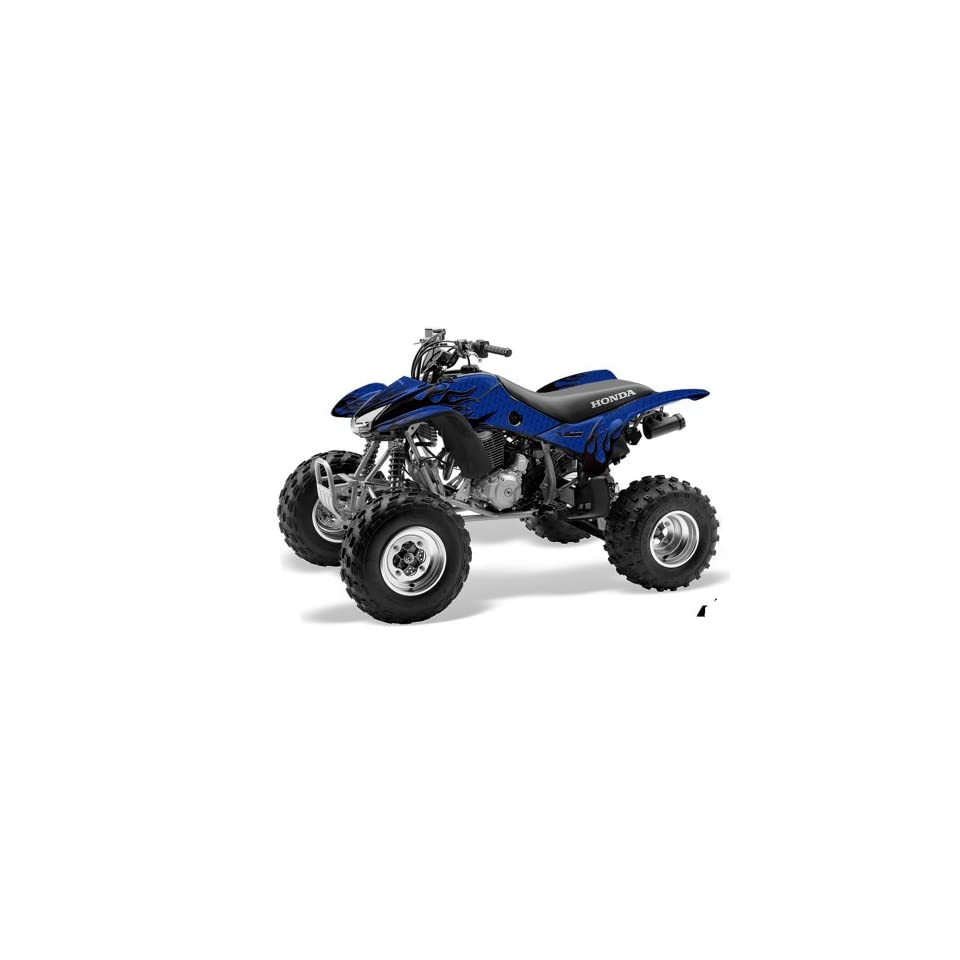 AMR Racing Honda TRX 400EX 1999 2007 ATV Quad Graphic Kit   Diamond Flame Blue