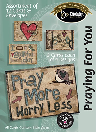 Divinity Boutique Greeting Card Assortment: Praying for You, Pray More (22417N) (Pray Card Set)
