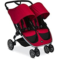 Britax 2017 B-Agile Double Stroller (Red)