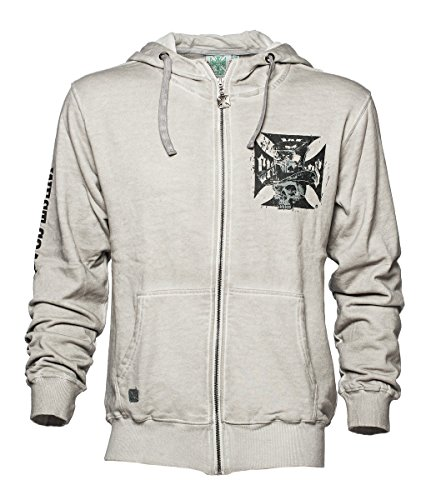 West Coast Choppers Zip Hoody Cash Only Vintage High Neck, Color:Vintage;Größe:XL (West Choppers Hoodie compare prices)