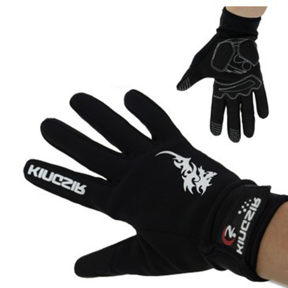 QQA Männer Sport Handschuhe Mountainbike Vollfinger Radfahren Handschuhe Stoßfest Atmungsaktive Thermische Handschuhe