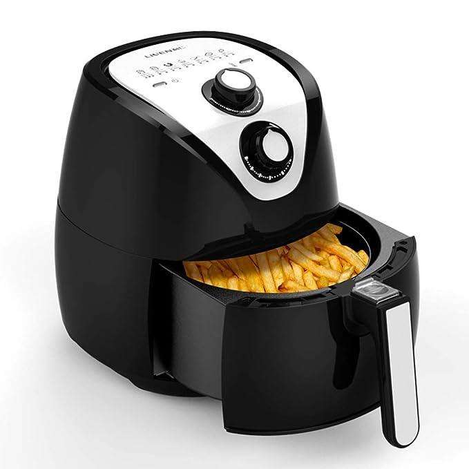 Multifunción temperatura ajustable del aire caliente gran capacidad sin humo freidora de aire máquina de papas fritas con pollo fritoB: Amazon.es: Hogar