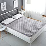 HXYL Mattress Pad Protector,Waterproof Quilted Topper Cover With Hypallergenic Fill & Deep Pocket Fitted Skirt-A 150x200cm(59x79inch)
