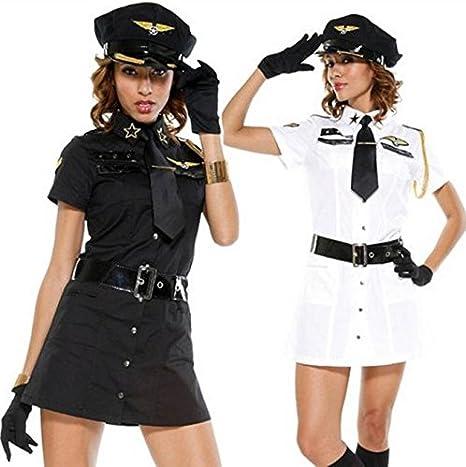 La nueva camisa blanca ZY Halloween-disfraces de policía el juego: Amazon.es: Deportes y aire libre