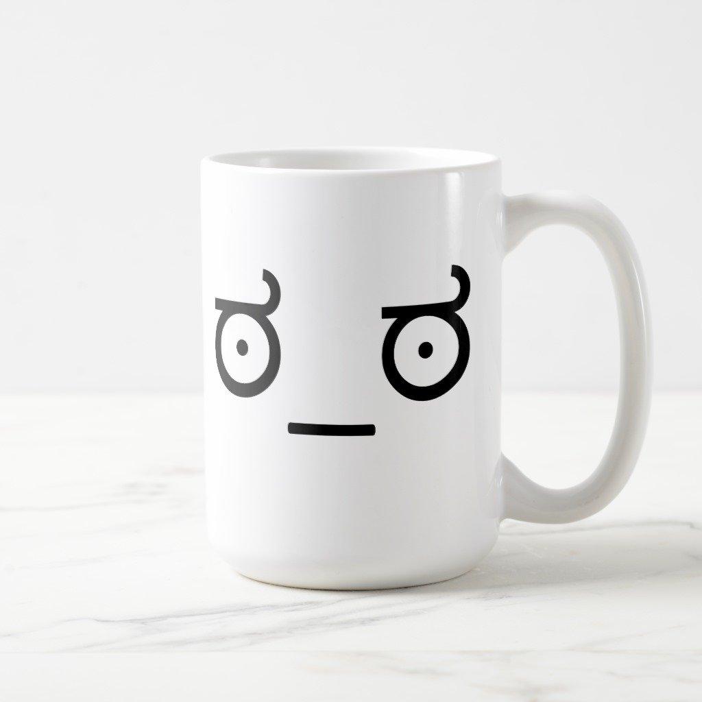 Zazzle LookのDisapproval Meme曇りガラスビールマグカップ 15 oz, Classic Mug 8d412c71-f3e7-57b5-2cba-598957c17ad9 B0796J68GM  ホワイト 15 oz, Classic Mug