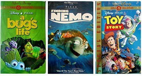 Amazon Com A Bug S Life Finding Nemo Toy Story Vhs Movies Tv