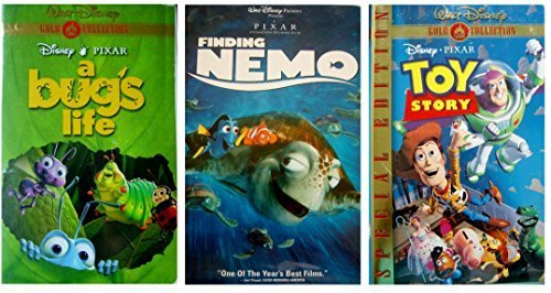A Bug's Life + Finding Nemo + Toy Story VHS ()