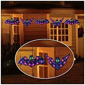 Amazon.com : Strand of 5 HOLOGRAPHIC BAT LIGHTS Indoor/Outdoor Halloween Decoration 10 1/2