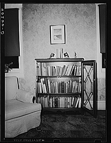 Lancaster County, Pennsylvania. A bookcase in the living room of the house on the Enos Royer farm. Bookcase Pennsylvania House